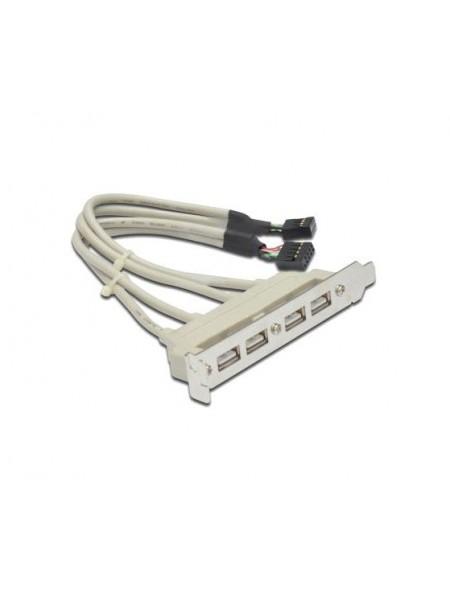 Планка расширения USB 2.0 на заднюю панель 4 порта