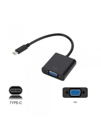 Кабель-адаптер USB Type-C в VGA