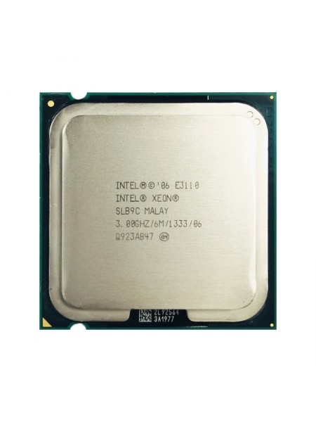 Процессор Intel  Xeon E3110 Socket 775 (2 ядра х 3.0 ггц) Б/У
