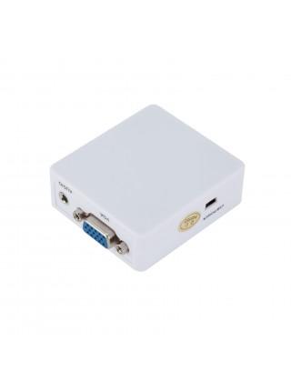 Конвертер VGA на HDMI + аудио, 1080P, VGA 2 HDMI