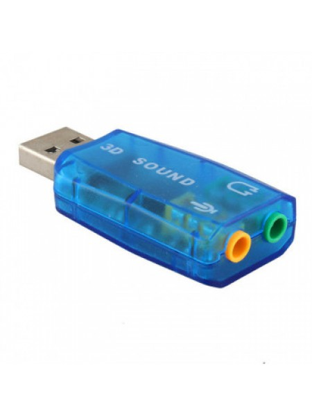 ЗВУКОВАЯ КАРТА ВНЕШНЯЯ USB C-MEDIA CM108, прозрачная, без кнопок