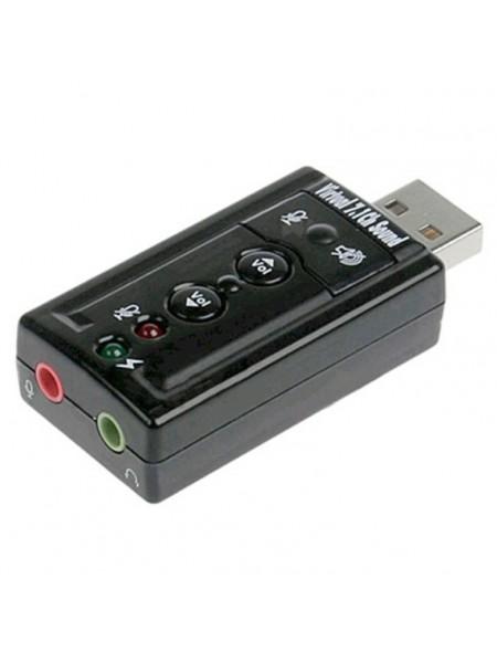 Звуковая карта внешняя USB C-Media CM108, чёрная
